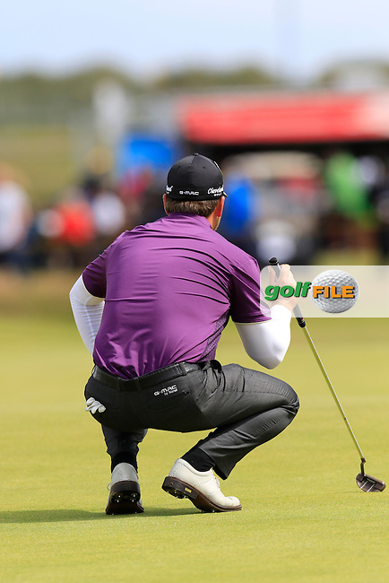 Graeme McDOWELL (NIR) on the 16th green during Sunday's Round  of the 144th Open Championship, St Andrews Old Course, St Andrews, Fife, Scotland. 19/07/2015.<br /> Picture Eoin Clarke, www.golffile.ie