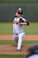 Peoria Javelinas pitcher Brandon Cunniff (45) during an Arizona Fall League game against the Mesa Solar Sox on October 15, 2014 at Surprise Stadium in Surprise, Arizona.  Mesa defeated Peoria 5-2.  (Mike Janes/Four Seam Images)