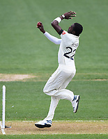 29th November 2019, Hamilton, New Zealand;  England's Jofra Archer bowling on day 1 of the 2nd international cricket test match between New Zealand and England at Seddon Park, Hamilton, New Zealand. Friday 29 November 2019