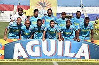 MONTERIA - COLOMBIA, 08-09-2018:  Jugadores de Jaguares posan para una foto previo al partido entre Jaguares FC y Alianza Petrolera por la fecha 9 de la Liga Águila II 2018 jugado en el estadio Municipal de Montería. / Players of Jaguares pose to a photo prior the match between Jaguares FC and Alianza Petrolera for the date 9 of the Liga Aguila II 2018 at the Municipal de Monteria Stadium in Monteria city. Photo: VizzorImage / Andres Felipe Lopez / Cont