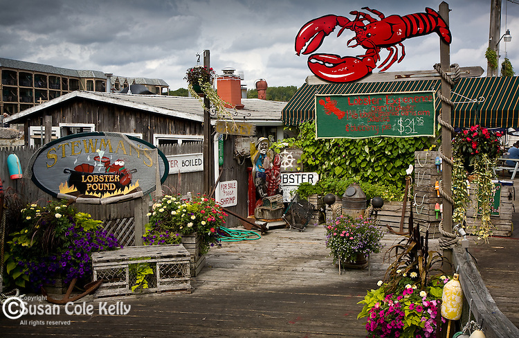 Stewmans Lobster restaurant, Bar Harbor, ME, USA