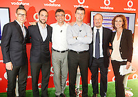 Vodafone presenta la nuova rete veloce la LTE ADVANCED che viaggera a 250Mbps Citta  test della rete sara  Napoli <br /> nella foto rocchio, gastaut  Hamsik higuain benitez