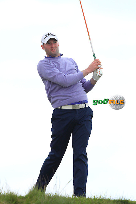 Barry Anderson (The Royal Dublin) on the 14th tee during Round 3 of the Irish Amateur Open Championship at Royal Dublin on Saturday 9th May 2015.<br /> Picture:  Thos Caffrey / www.golffile.ie