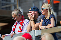 Fleetwood fans react to seeing their side go 2-0 down during the Sky Bet League 1 match between Bristol Rovers and Fleetwood Town at the Memorial Stadium, Bristol, England on 26 August 2017. Photo by Mark  Hawkins.