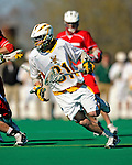 30 April 2011: University of Vermont Catamount F/O Tom Frasca, a Senior from Medfield, MA, in action against the Stony Brook Seawolves at Moulton Winder Field in Burlington, Vermont. The Catamounts fell to the visiting Seawolves 12-9 to conclude their America East season. Mandatory Credit: Ed Wolfstein Photo