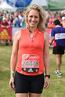 Sophie Raworth<br /> at the start of the 2017 London Marathon on Blackheath Common, London. <br /> <br /> <br /> ©Ash Knotek  D3253  23/04/2017
