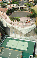 A personal bull ring belonging to a private house in Interlomas. Aerial shots of Mexico City