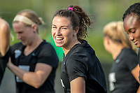Boston, MA - Saturday April 29, 2017: Morgan Andrews during a regular season National Women's Soccer League (NWSL) match between the Boston Breakers and Seattle Reign FC at Jordan Field.