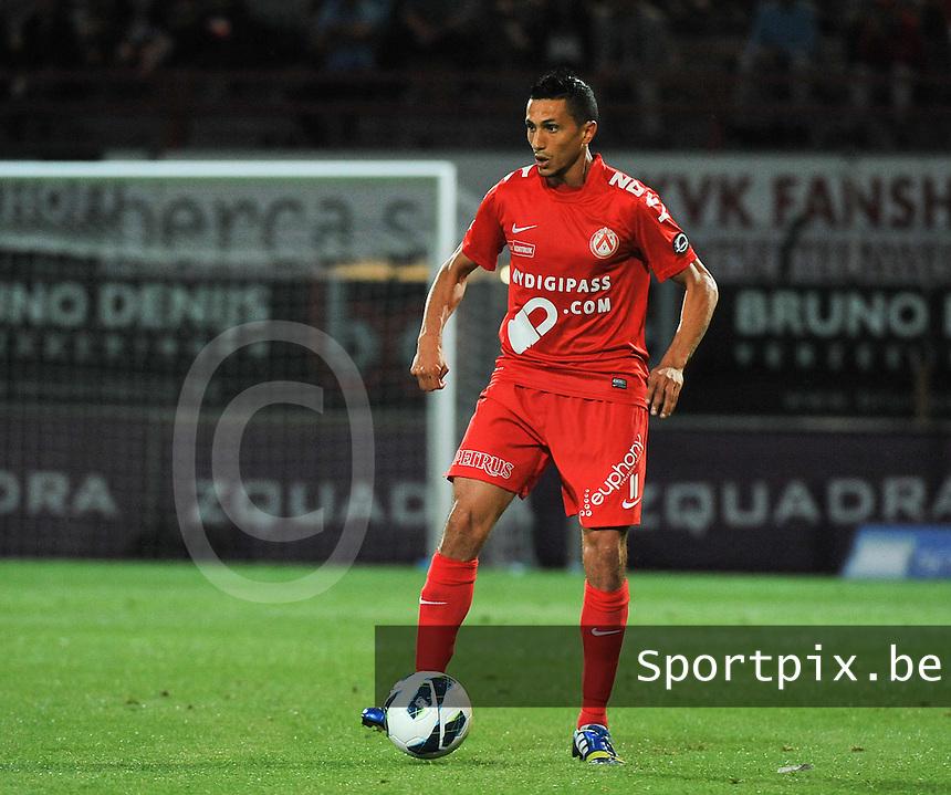 KV Kortrijk - Sporting Lokeren : Mustapha Oussalah<br /> foto VDB / Bart Vandenbroucke