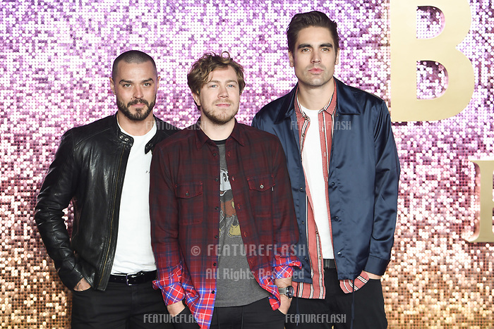 LONDON, UK. October 23, 2018: Busted at the world premiere of &quot;Bohemian Rhapsody&quot; at Wembley Arena, London.<br /> Picture: Steve Vas/Featureflash