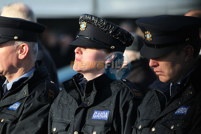The State funeral of Detective Garda Adrian Donohoe taking place in Dundalk, Co Louth. Garda Donohoe was shot dead in a folded Credit Union robbery at lordship outside Dundalk on Friday evening last..Picture: Fran Caffrey/www.newsfile.ie.