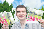 CAMPAIGN: Castlemaine man, Brendan Griffin with some of the postcards he is asking people to send to Health Minister Mary Harney.   Copyright Kerry's Eye 2008