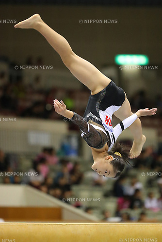 Izumi Nitta (), <br /> AUGUST 21, 2017 - Artistic Gymnastics : <br /> 48th All Japan Junior High School Championships <br /> Women's Individual All-Around <br /> Balance Beam <br /> at Kitakyushu City General Gymnasium, Fukuoka, Japan. <br /> (Photo by YUTAKA/AFLO)