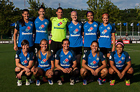 Kansas City, MO - Sunday July 02, 2017:  FC Kansas City starting 11 consisted of Brittany Taylor, Nicole Barnhart, Becky Sauerbrunn, Yael Averbuch, Christina Gibbons,Desiree Scott, Becca Moros, Shea Groom, Brittany Ratcliffe, Lo'eau Labonta, and Sydney Leroux before a regular season National Women's Soccer League (NWSL) match between FC Kansas City and the Houston Dash at Children's Mercy Victory Field.