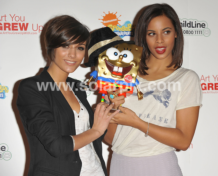 **ALL ROUND PICTURES FROM SOLARPIX.COM**.**WORLDWIDE SYNDICATION RIGHTS**.Inside arrivals at the Celebrity Launch event for SpongeBob FancyPants. Held at County Hall, Belvedere Road, London, UK. 21 January 2010...This pic: Frankie Sandford and Rochelle Wiseman..JOB REF: 10524 SSD     DATE: 21_01_2010.**MUST CREDIT SOLARPIX.COM OR DOUBLE FEE WILL BE CHARGED**.**MUST NOTIFY SOLARPIX OF ONLINE USAGE**.**CALL US ON: +34 952 811 768 or LOW RATE FROM UK 0844 617 7637**