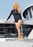 """Pamela Anderson on board """"The Sea Shepherd's SSS Brigitte Bardot"""" - Los Angeles"""