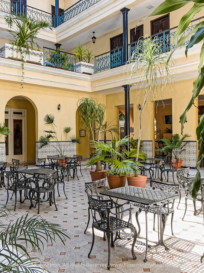 More of courtyard in Hotel Union, Cienfuegos