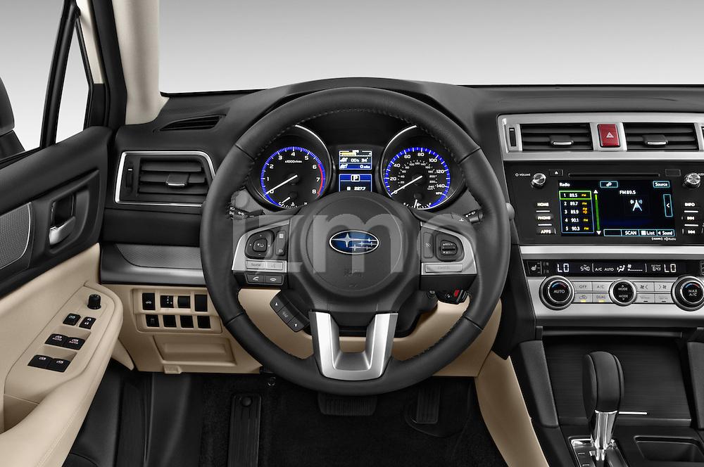 Car pictures of steering wheel view of a 2015 Subaru Legacy 2.5I Premium 4 Door Sedan 2WD Steering Wheel