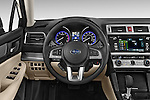 Car pictures of steering wheel view of a 2015 Subaru Legacy 2.5I Premium 4 Door Sedan 2WD Steering Wheel
