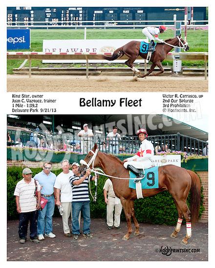 Bellamy Fleet winning at Delaware Park on 9/21/13