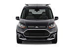 Car photography straight front view of a 2016 Ford Transit Connect Titanium 5 Door Mini Mpv Front View