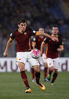 Calcio, Serie A: Roma vs Inter. Roma, stadio Olimpico, 19 marzo 2016.<br /> Roma's Diego Perotti in action during the Italian Serie A football match between Roma and FC Inter at Rome's Olympic stadium, 19 March 2016. The game ended 1-1.<br /> UPDATE IMAGES PRESS/Isabella Bonotto