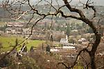 Downtown Jackson, California, during spring, St. Sava Serbian Orthodox Church.