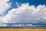 Rain and thunderstorm over the Uncompahgre Plateau, Colorado