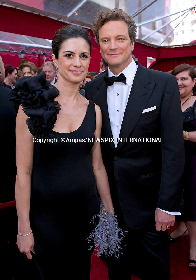 """COLIN FIRTH AND LIVIA GIUGGIOLI.arrives at the 82nd Annual Academy Awards at the Kodak Theatre in Hollywood, CA, on Sunday, March 7, 2010..Mandatory Photo Credit: Newspix International..**ALL FEES PAYABLE TO: """"NEWSPIX INTERNATIONAL""""**..PHOTO CREDIT MANDATORY!!: NEWSPIX INTERNATIONAL(Failure to credit will incur a surcharge of 100% of reproduction fees)..IMMEDIATE CONFIRMATION OF USAGE REQUIRED:.Newspix International, 31 Chinnery Hill, Bishop's Stortford, ENGLAND CM23 3PS.Tel:+441279 324672  ; Fax: +441279656877.Mobile:  0777568 1153.e-mail: info@newspixinternational.co.uk"""