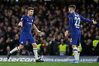 Jorginho celebrates scoring his second penalty and Chelsea's third goal during Chelsea vs AFC Ajax, UEFA Champions League Football at Stamford Bridge on 5th November 2019