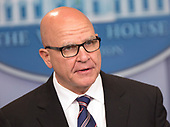 U.S. National Security Advisor H.R. McMaster holds a briefing at the White House in Washington, DC, May 16, 2017. Credit: Chris Kleponis / CNPUnited States National Security Advisor H.R. McMaster holds a briefing at the White House in Washington, DC, May 16, 2017. <br /> Credit: Chris Kleponis / CNP