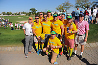 Avid golf fans on hand during round 1 foursomes of the 2017 President's Cup, Liberty National Golf Club, Jersey City, New Jersey, USA. 9/28/2017.<br /> Picture: Golffile   Ken Murray<br /> ll photo usage must carry mandatory copyright credit (&copy; Golffile   Ken Murray)
