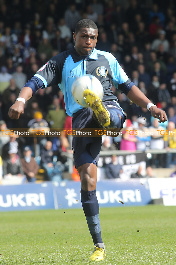 Kortney Hause of Wycombe Wanderers - Wycombe Wanderers vs Port Vale - NPower League Two Football at Adams Park, High Wycombe - 27/04/13 - MANDATORY CREDIT: Paul Dennis/TGSPHOTO - Self billing applies where appropriate - 0845 094 6026 - contact@tgsphoto.co.uk - NO UNPAID USE.