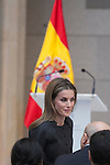 Queen Letizia of Spain attends Velazquez Visual Arts Award ceremony at Prado Museum in Madrid, Spain. November 17, 2014. (ALTERPHOTOS/Victor Blanco)