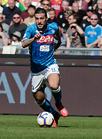 Simone Verdi of Napoli  during the  italian serie a soccer match, AS Roma -  SSC Napoli       at  the Stadio Olimpico in Rome  Italy , March 31, 2019