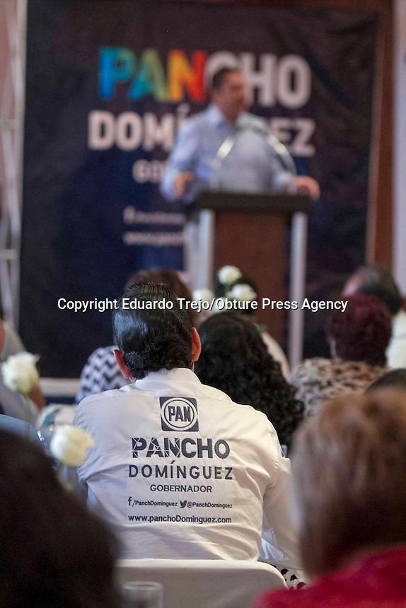 San Juan del R&iacute;o, Qro. 11 abril 2015.- El gobernador de Puebla, Rafa&eacute;l Moreno Valle, acompa&ntilde;&oacute; este d&iacute;a al candidato a la gubernatura, Pancho Dom&iacute;nguez y al candiato a la alcald&iacute;a, Memo Vega.<br /> <br /> Moreno Valle se incorpor&oacute; a la agenda de Pancho Dom&iacute;nguez cuando se llevaba a cabo un encuentro con los Pastores de las Iglesias Cristianas Evang&eacute;licas del estado.