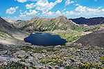July 26, 2016 - Aspen, Colorado, U.S. -  Lost Man Lake is one of several alpine lakes found along the Lost Man Trail in the Hunter-Fryingpan Wilderness Area which is a popular hike especially during wildflower season near Aspen, Colorado.