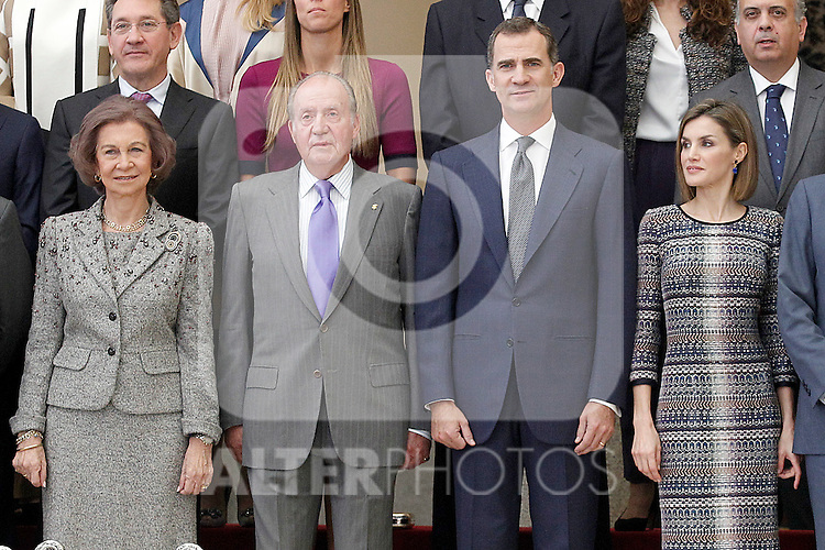Queen Sofia, King Juan Carlos, King Felipe VI of Spain and Queen Letizia of Spain durng the National Sports Awards 2014. November 17, 2015 in Madrid, Spain.(ALTERPHOTOS/Acero)