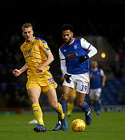 Wigan Athletic's Dan Burn battles with Ipswich Town's Jordan Roberts<br /> <br /> Photographer Hannah Fountain/CameraSport<br /> <br /> The EFL Sky Bet Championship - Ipswich Town v Wigan Athletic - Saturday 15th December 2018 - Portman Road - Ipswich<br /> <br /> World Copyright &copy; 2018 CameraSport. All rights reserved. 43 Linden Ave. Countesthorpe. Leicester. England. LE8 5PG - Tel: +44 (0) 116 277 4147 - admin@camerasport.com - www.camerasport.com