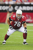 Sept. 27, 2009; Glendale, AZ, USA; Arizona Cardinals guard Deuce Lutui against the Indianapolis Colts at University of Phoenix Stadium. Indianapolis defeated Arizona 31-10. Mandatory Credit: Mark J. Rebilas-