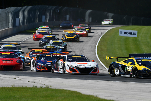 Pirelli World Challenge<br /> Grand Prix of Road America<br /> Road America, Elkhart Lake, WI USA<br /> Sunday 25 June 2017<br /> Ryan Eversley, Peter Kox<br /> World Copyright: Richard Dole/LAT Images<br /> ref: Digital Image RD_USA_00302