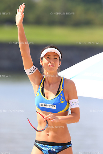 Satoko Urata,<br /> SEPTEMBER 21, 2015 - Beach Volleyball : <br /> JBV Tour 2015 Tokyo Open<br /> Women's Final<br /> at Odaiba Beach, Tokyo, Japan.<br /> (Photo by Shingo Ito/AFLO SPORT)
