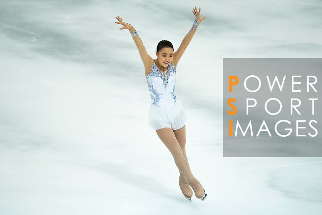 TAIPEI, TAIWAN - JANUARY 23:  So Youn Park of South Korea performs her routine at the Ladies Short Program event during the Four Continents Figure Skating Championships on January 23, 2014 in Taipei, Taiwan.  Photo by Victor Fraile / Power Sport Images *** Local Caption *** So Youn Park