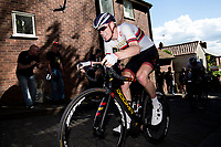 Picture by Alex Whitehead/SWpix.com - 14/05/2017 - Cycling - 2017 HSBC UK | Spring Cup Road Series - Lincoln Grand Prix - Team Wiggins Joey Walker climbs Michaelgate cobbles.