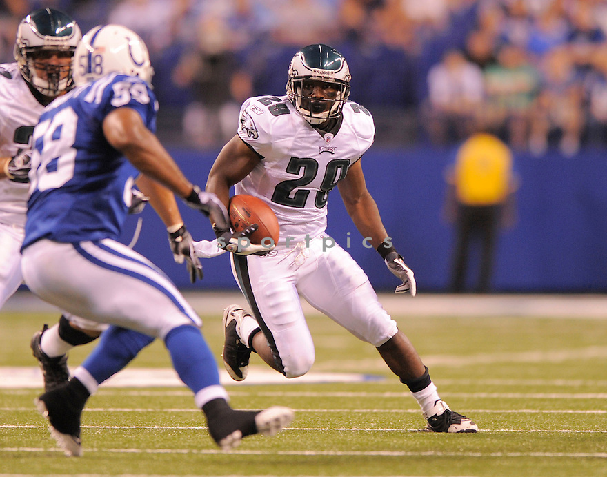 LESEAN MCCOY,of the Philadelphia Eagles  in action  during the Eagles  game against the Indianapolis Colts on August 20, 2009 in  Indianapolis, IN  The Colts beat  the Eagles 23-15.