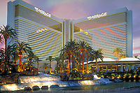 Mirage,  Las Vegas, Fountain, Pool, Resort, lit at night, Casinos; Hotels; Strip; gambling; shopping, Dramatic Breathtaking Photo