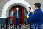 Tom, chairman of Saint Brendand Park residents association talking to newlt recruited Garda David O'Sullivan, Killarney and Garda Aidan O'Mahony