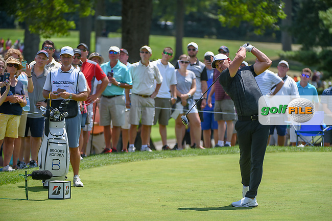 Brooks Koepka (USA) watches his tee shot on 8 during 3rd round of the World Golf Championships - Bridgestone Invitational, at the Firestone Country Club, Akron, Ohio. 8/4/2018.<br /> Picture: Golffile   Ken Murray<br /> <br /> <br /> All photo usage must carry mandatory copyright credit (© Golffile   Ken Murray)