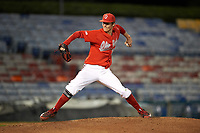 Ohio State Buckeyes starting pitcher John Havird (23) delivers a pitch during a game against the Pitt Panthers on February 20, 2016 at Holman Stadium at Historic Dodgertown in Vero Beach, Florida.  Ohio State defeated Pitt 11-8 in thirteen innings.  (Mike Janes/Four Seam Images)