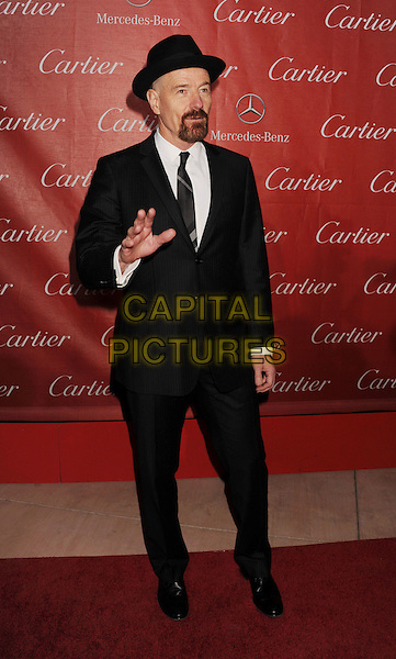 Bryan Cranston.The 24th Annual Palm Springs International Film Festival Awards Gala at the Palm Springs Convention Center in Palm Springs, California, USA..January 5th, 2013.full length hand arm waving black white tie goatee facial hair hat.CAP/ROT/TM.©Tony Michaels/Roth Stock/Capital Pictures